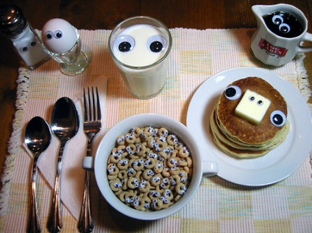 Googly-eyed breakfast by Angie Naron